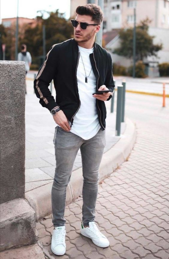 Bomber Jacket Fall Outfit 3